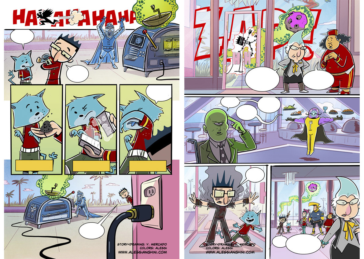 hero hotel comic strips